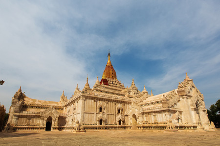 buddhist temple: Buddhist temples in Bagan at sunset, Myanmar
