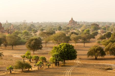 fascinate: Buddhist temples in Bagan at sunset, Myanmar