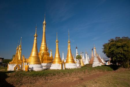 inn: Shwe Inn Thein pagoda at Indein village, Inle Lake, Myanmar