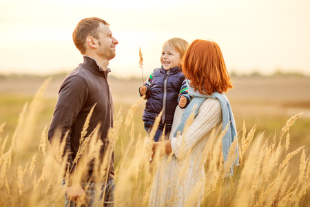 military men: Young Attractive Parents and Child Portrait