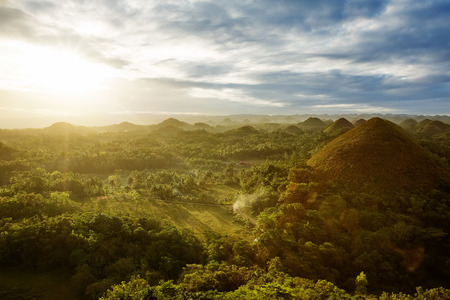 philippines: View of The Chocolate Hills. Bohol, Philippines Stock Photo