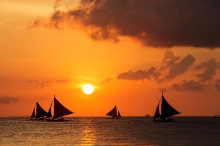 boracay: Beautiful sunset at Boracay, Philippines