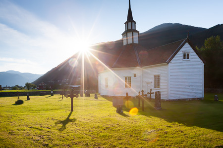 country church: Traditional church in countryside of Norway
