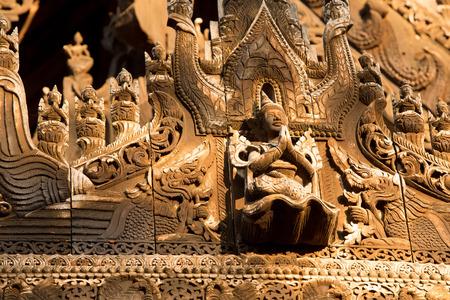 nat: Ancient teak monastery of Shwenandaw Kyaung in Mandalay, Myanmar