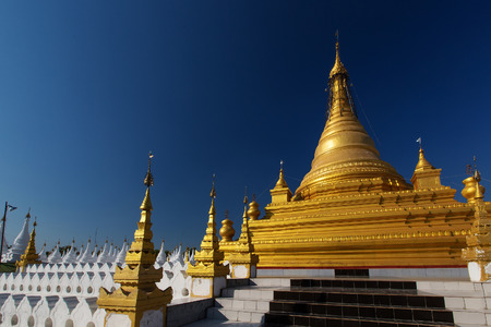 biggest: The Worlds biggest book Inscribing on the 729 marble stone slabs, Mandalay city in Myanmar.