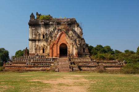 burmese: Burmese pagoda  in Inwa, Myanmar Stock Photo