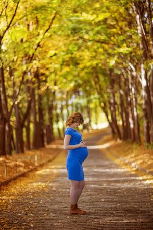 love life: Pregnant female in autumn