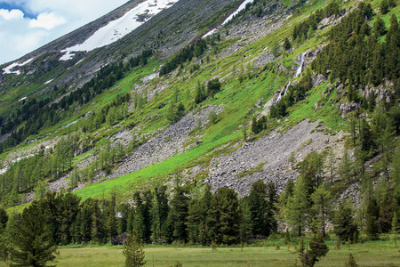altai: Beautiful landscape of highlands of Altai mountains