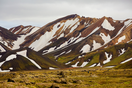 hekla: Landmannalaugar -  Landscape in Iceland Stock Photo
