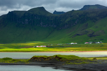 View at mountain landscape in Iceland Stock Photo