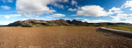 plains: Panoramic view at Icelandic plains during summertime