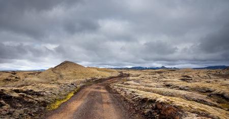 llanura: Ver en llanuras de Islandia durante el verano Foto de archivo