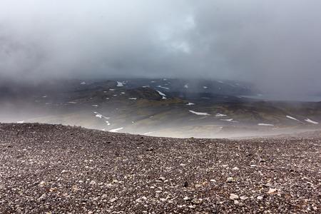 icelandic: View at Icelandic plains during summertime