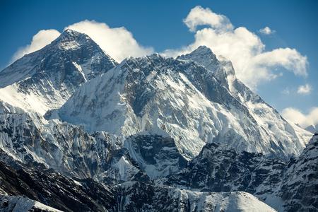 Everest mountain against blue sky