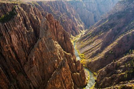 Black Canyon of the Gunnison park in Colorado, USA Stock Photo