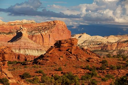 rock formation: Spectacular landscapes of Capitol reef National park in Utah, USA