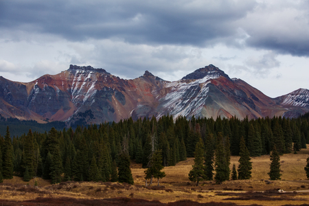 uncompahgre national forest: Amazing landscapes of San Juan national forest in Colorado, USA Stock Photo