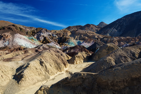 Artists Palette landmark place in Death Valley National Park, California, USA Stock Photo