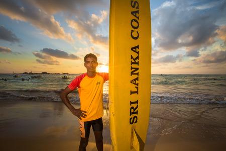 lifeguard on the beach Sri Lanka Editorial