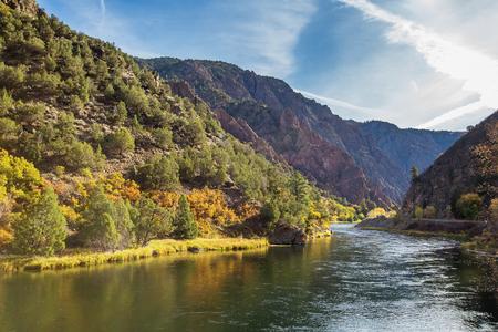 米国コロラド州のガニソン公園のブラックキャニオン 写真素材
