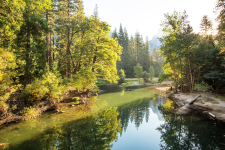 Spectacular views of the Yosemite National Park in autumn, California, USA Stock Photo