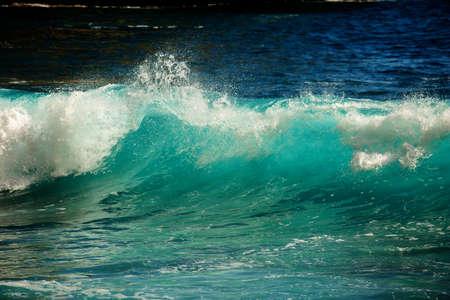 Big blue stormy ocean wave 版權商用圖片