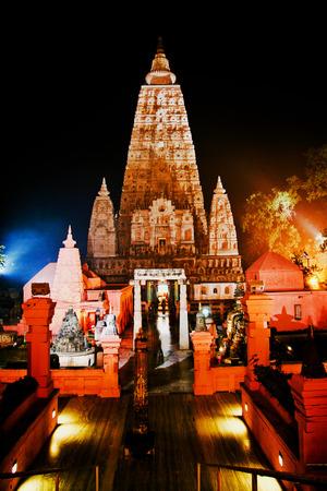 bodhgaya: Mahabodhi Temple In Bodhgaya, Bihar, IndiaSite Of The Buddha