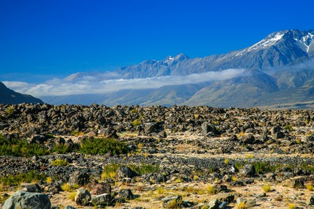 oft: View oft Tasman Valleys , Aoraki Mt Cook national park Southern Alps mountain South Island New Zealand Stock Photo