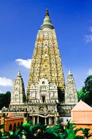gaya: Mahabodhi temple, bodh gaya, India  The site where Gautam Buddha attained enlightenment