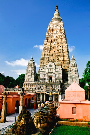 sarnath: Mahabodhi temple, bodh gaya, India  The site where Gautam Buddha attained enlightenment