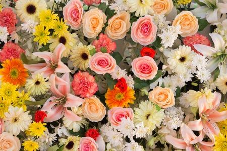 exotic flowers arrangement  photo
