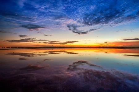 sunset at huahin beach Stock Photo