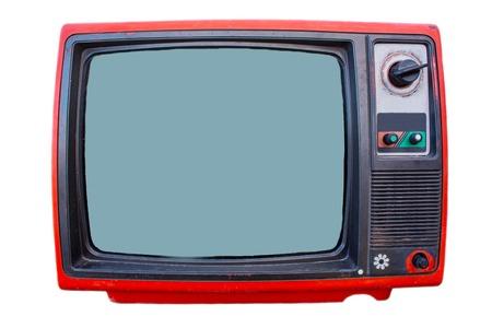 Vintage TV set isolated photo