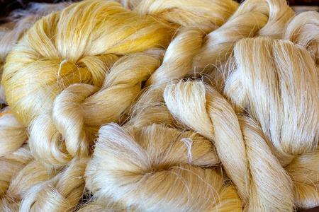 Raw Thai silk thread