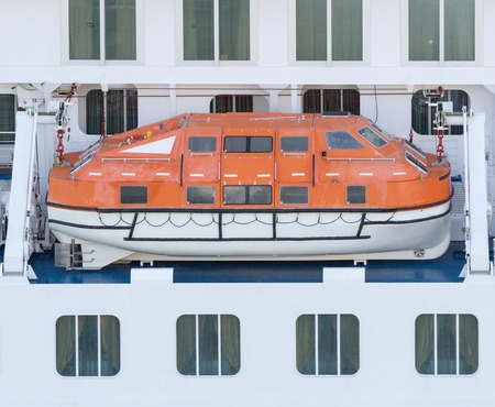 Lifeboat on a luxury ferry photo