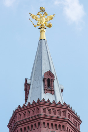 double headed: The Moscow Kremlin, russian state emblem
