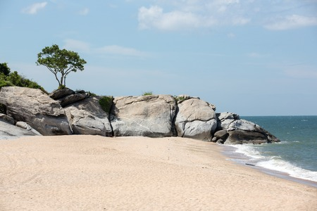 hua hin: rocks on Hua Hin beach in Thailand