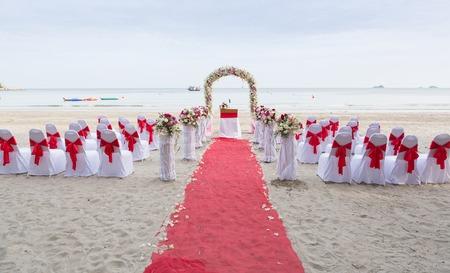 해변에서 결혼식 장소