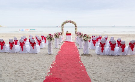 venue: wedding venue on the beach