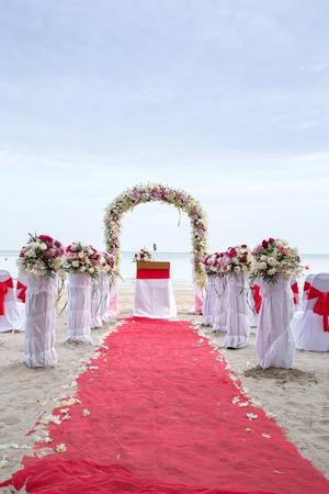 venue: wedding venue on the beach