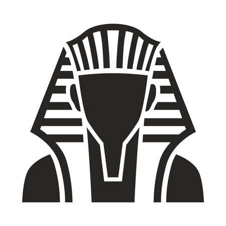 Pharaoh vector isolated flat illustration. Pharaoh icon. Egyptian pharaoh.