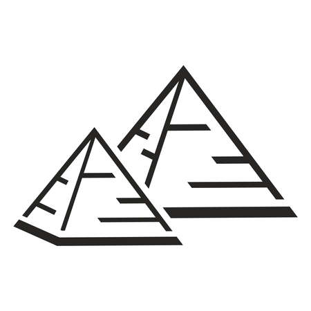 Pyramid icon. Pyramid shape isolated vector illustration . Flat illustration.