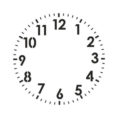 Illustration for your own design vector illustration isolated on white background. Vector clock face. Vector Illustratie