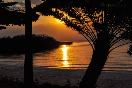 incomparable: sunset on Lake Victoria, Africa
