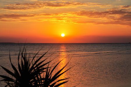 incomparable: sunset on the island of Zanzibar Stock Photo