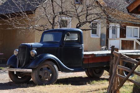 pileup: old pickup truck in Capitol Reef National Park, Utah