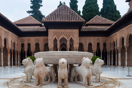 playground playing within the palace of the Alhambra in Granada, Spain