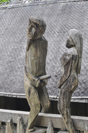 sexuality: wooden figures in sexual positions, former home of Vietnams sexuality