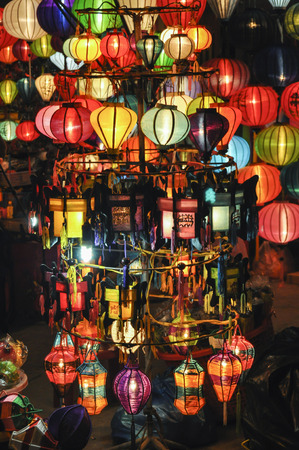hoi an: little colored lamps in Hoi an, Vietnam