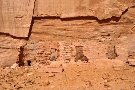 anasazi: Anasazi citt� antica nella Riserva Navajo con pittogrammi in Mystery Valley Archivio Fotografico